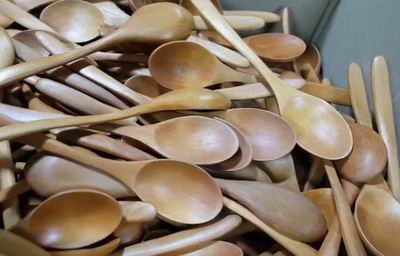 wooden spoons hold bacteria
