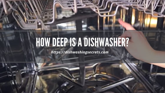 how deep is a dishwasher