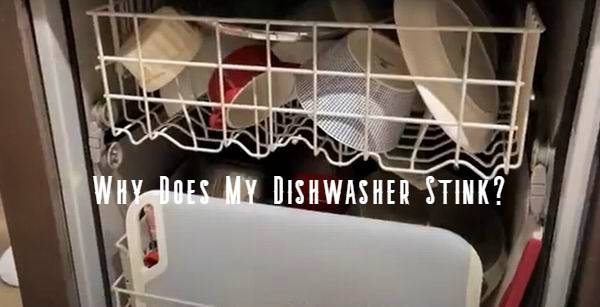 why does my dishwasher stink after use